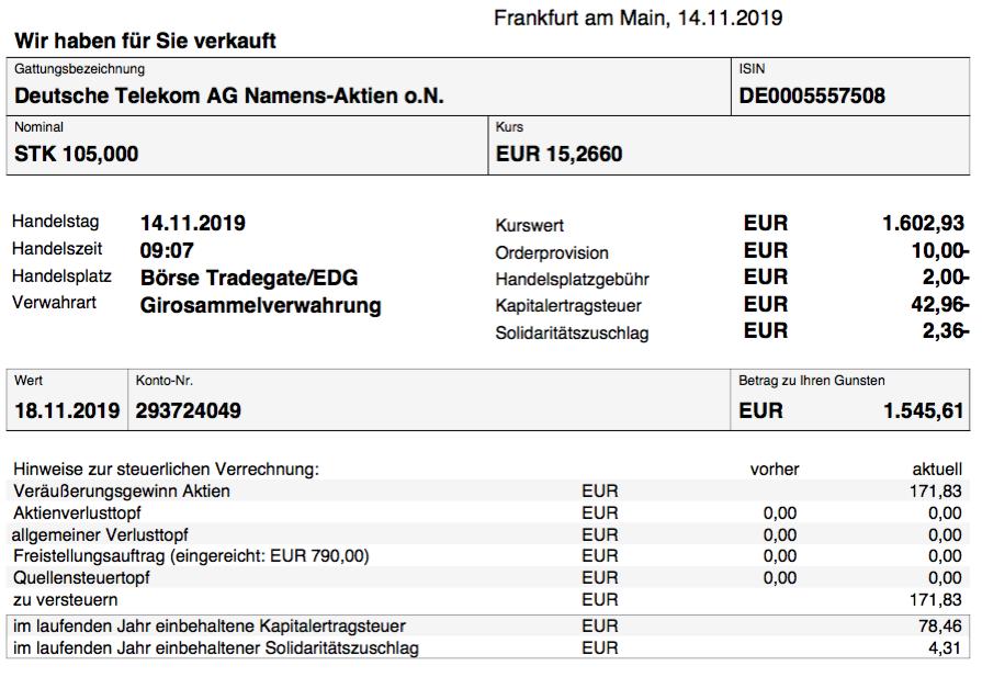 Verkauf Deutsche Telekom