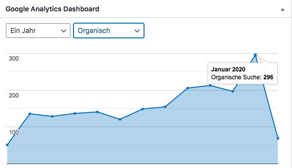 Blogaufrufe über Google. Januar 2020